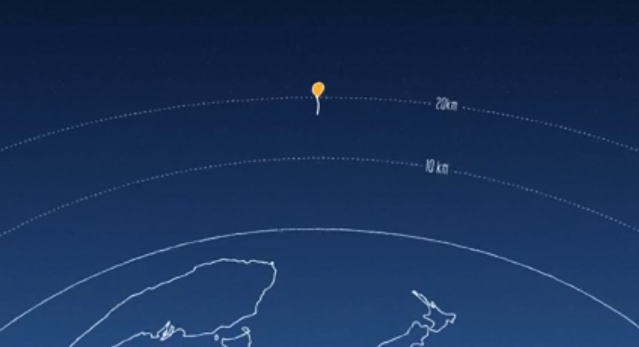 The Project Loon balloons